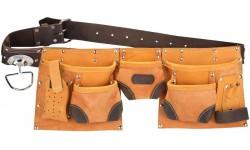 Кожаный пояс для инструмента «Стандарт» (10 карманов)