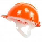 Каска ЮНОНА с пластиковым оголовьем оранжевая