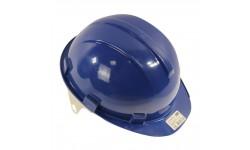 Каска ЮНОНА с пластиковым оголовьем синяя