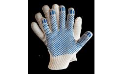Хлопчатобумажные перчатки с ПВХ-покрытием 3 нити