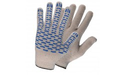Перчатки х/б с ПВХ покрытием (4 нити)
