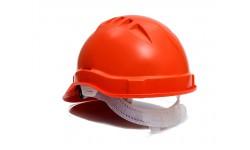 Каска строительная оранжевая (для рабочих)